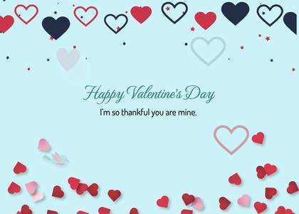 valentine card 228 paper confetti