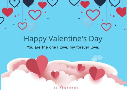 valentine card 229 paper flyer