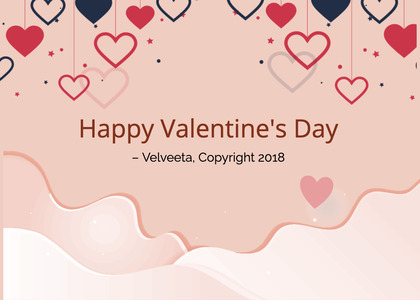valentine card 238 text label