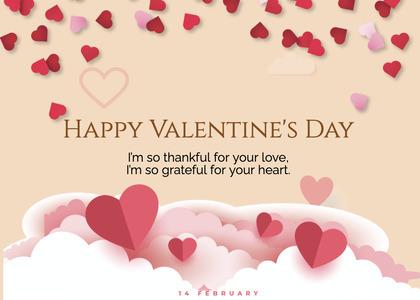 valentine card 240 petal flower
