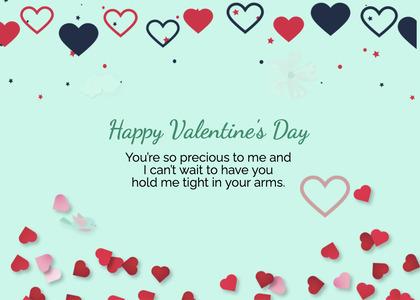 valentine card 242 paper heart
