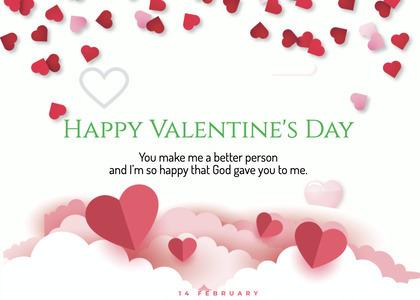 valentine card 244 petal flower