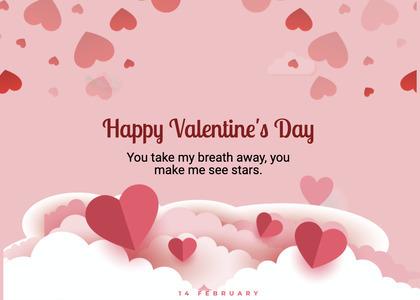valentine card 250 paper advertisement