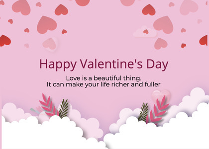 valentine card 253 paper flyer