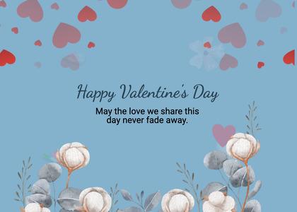 valentine card 259 clam sealife