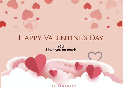 valentine card 264 paper text