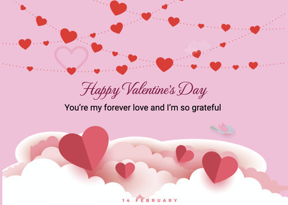 valentine card 265 paper heart