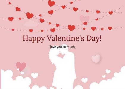 valentine card 270 paper hand