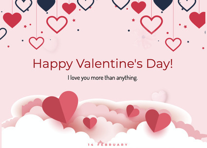 valentine card 273 paper text