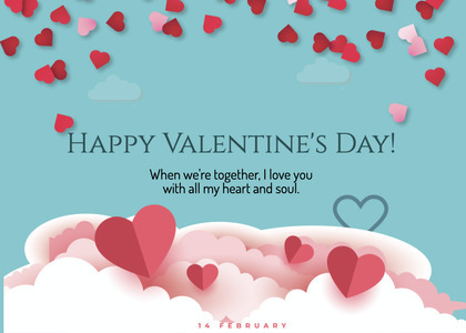 valentine card 278 paper petal