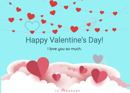valentine card 280 paper page