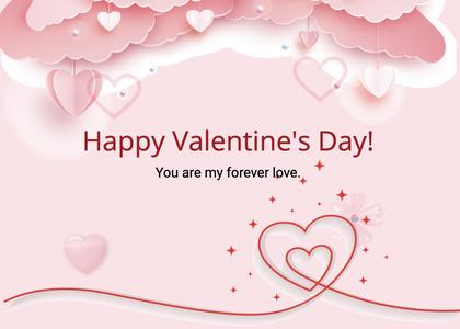 valentine card 282 skin paper
