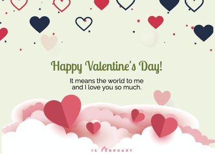 valentine card 288 paper greeting card
