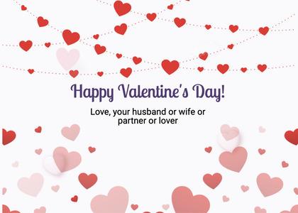 valentine card 289 paper confetti