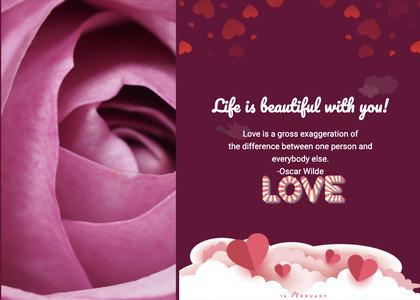 valentine card 293 petal plant