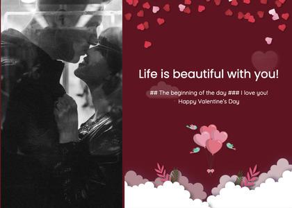 valentine card 297 poster advertisement