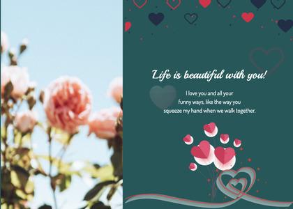 valentine card 298 plant flower