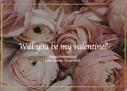 valentine card 30 plant rose
