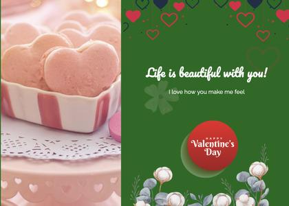 valentine card 300 cream dessert