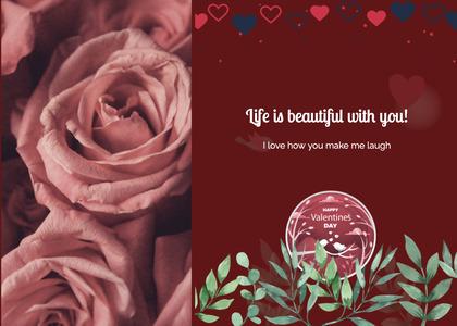 valentine card 301 rose plant