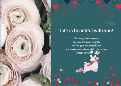 valentine card 304 rose plant