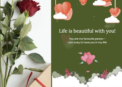 valentine card 307 plant flower