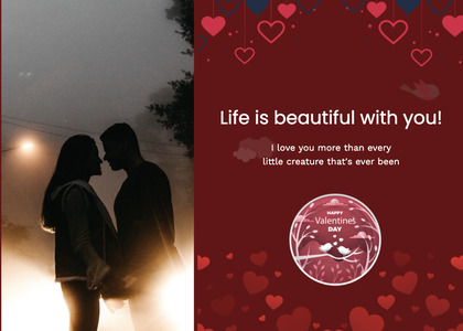 valentine card 309 poster advertisement