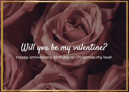 valentine card 31 rose plant
