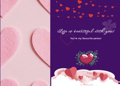 valentine card 312 sweets food