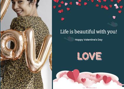 valentine card 318 person human