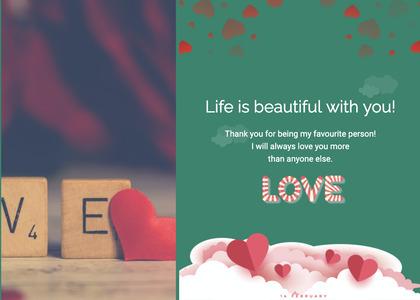 valentine card 321 paper text