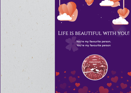 valentine card 333 advertisement poster