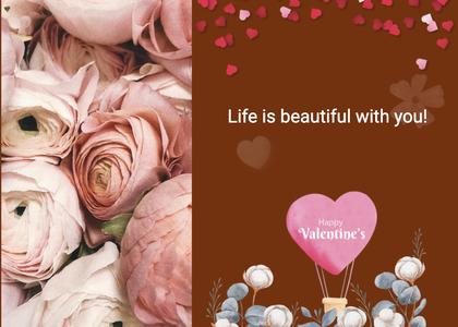 valentine card 334 plant rose