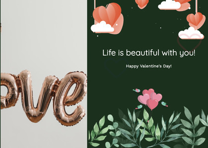 valentine card 338 text paper
