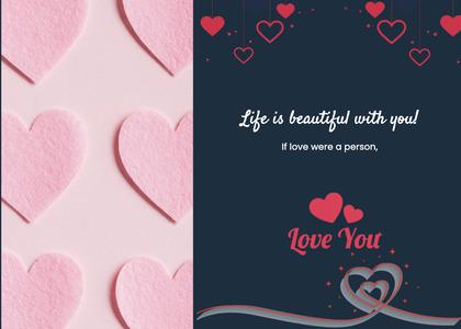 valentine card 339 heart paper