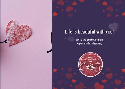 valentine card 340 advertisement poster