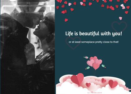 valentine card 342 flyer brochure