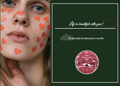 valentine card 346 face person
