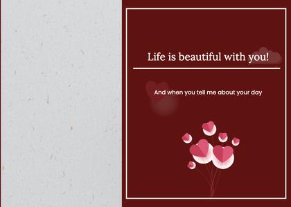 valentine card 351 poster advertisement