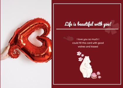 valentine card 352 text label