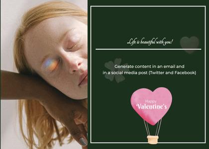 valentine card 354 head person