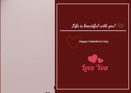 valentine card 359 text label