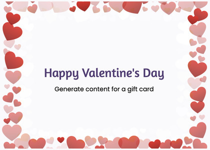 valentine card 365 text business card