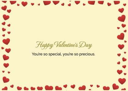 valentine card 366 text business card