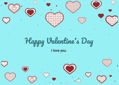 valentine card 369 heart text