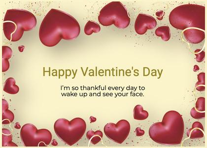valentine card 370 heart plant