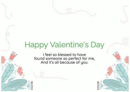 valentine card 372 text paper