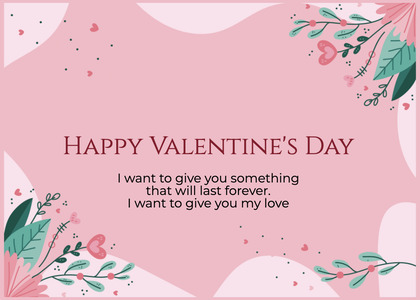 valentine card 380 text paper