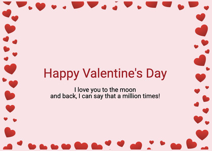valentine card 383 text paper