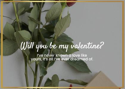 valentine card 44 leaf plant